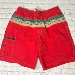 Men's Red Speedo Board Shorts Size XL